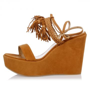 Leather Wedges TASSELMANIA