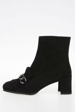 Suede Leather RINGTONE Ankle Boots 6 cm