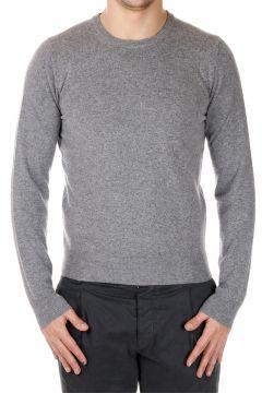 Mixed Extrafine Merino Wool Crew Neck Sweater