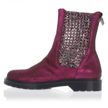 Glittered GABBIA Ankle boots with Zip Closing