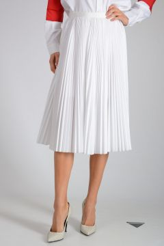 Cotton Blend plisse Skirt