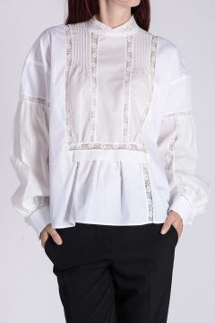Cotton Blend Blouse