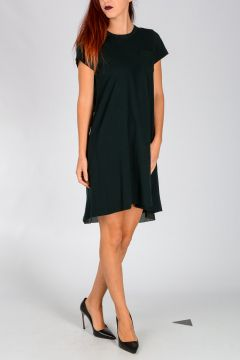 Asymmetrical Hem Cotton Dress