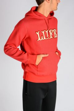 Cotton Jersey LIFE Print Hoodie