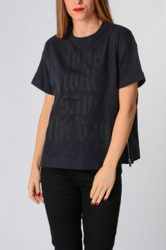 T-Shirt con Zip Laterali
