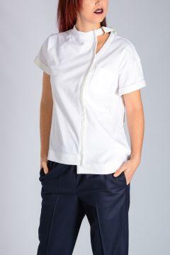Asymmetrical Hem Jersey T-Shirt