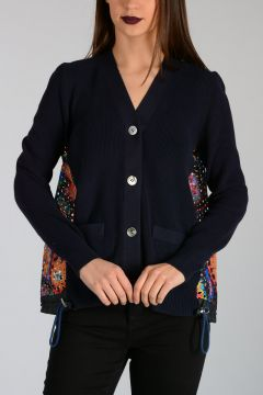 Cardigan With Embroidery on Back