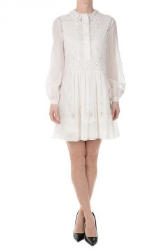 Cotton Flared Shirt Dress