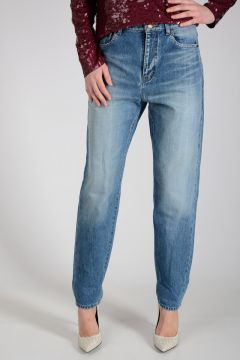 Jeans con Denim Stonewashed 16cm
