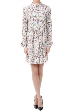 Silk Stars Printed Dress