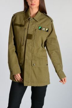 Parka in Tela con Patch