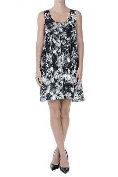 Printed Flared Sleeveless Dress