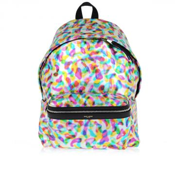 Printed Leather Back pack