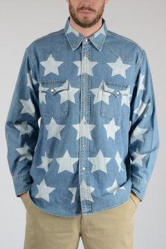 Denim Stars Print Shirt