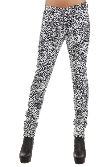 15 cm animal print Jeans