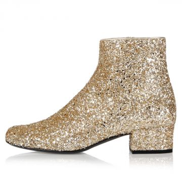 Glitter Helled Ankle Boot