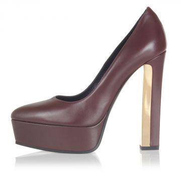 Ziggy Leather Pump Heel 13.5 cm