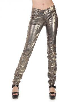 Pantaloni in Pelle Laminata