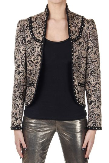 Paisley Patterned Jacket with Studs