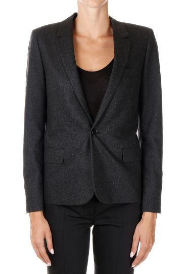 Wool and Cashmere single-breasted Jacket