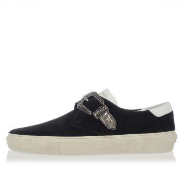 Sneakers Slip On in Pelle