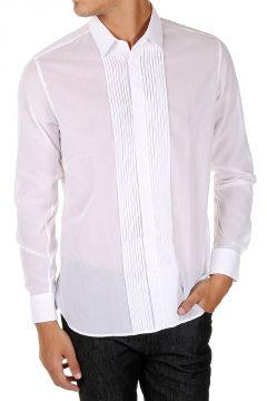 Camicia in Popeline di Cotone con Dettaglio Frontale