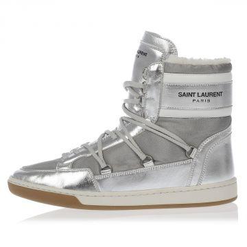 Sneakers in Pelle con interno in Ecopelliccia