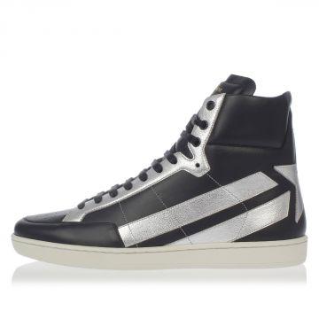 Sneakers WOLLY in Pelle con Dettagli Argentati