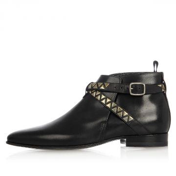 Studded Stap LONDON Leather Boots