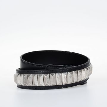 Leather Belt with Studs 30 mm