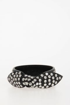 Leather Bracelet With Strass