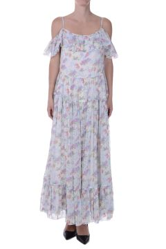 Silk Floral Printed Maxi Dress