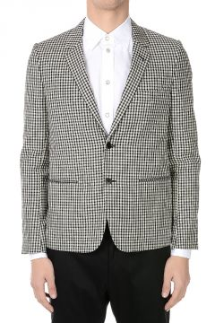 Wool Blend Checked Blazer