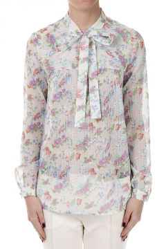 Floral Pattern Silk Shirt