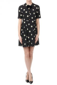 Daisy Printed Dress With bow