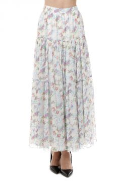 Floral Pattern Long Skirt