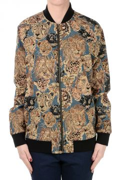 Bomber Jacket in Brocade Fabric