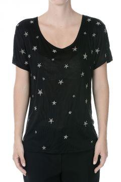 T-shirt a Maglia Fine in Seta