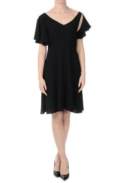 Viscose Blend Shift Dress