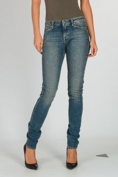 Stretch Cotton Denim Jeans 13 cm