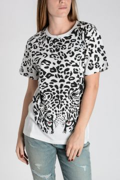 T-Shirt In Cotone Stampa Maculata