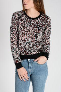 Leopard Print Mohair & Lurex Sweater