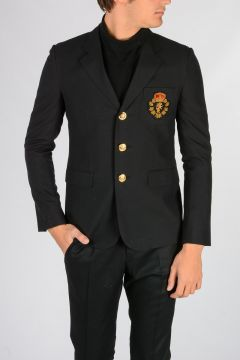 Embroidery Wool Blazer