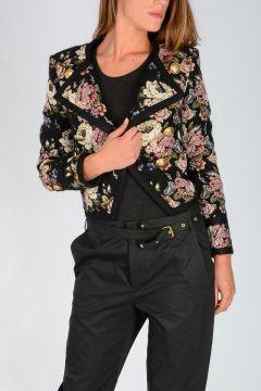 Floral Wool Blend Blazer