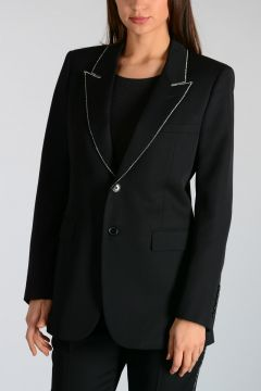 Wool Blazer with Strass