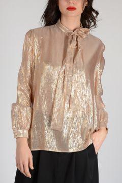 Lurex Silk Blouse