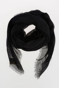 Polka Dot Cashmere & Silk Foulard 135x135 cm