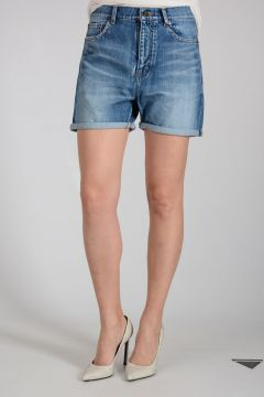 Shorts in Denim Stonewashed