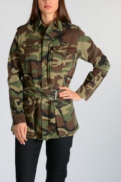 Parka in Cotone Camouflage