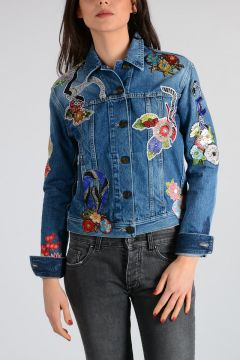 Embroidery Beads Denim Jacket